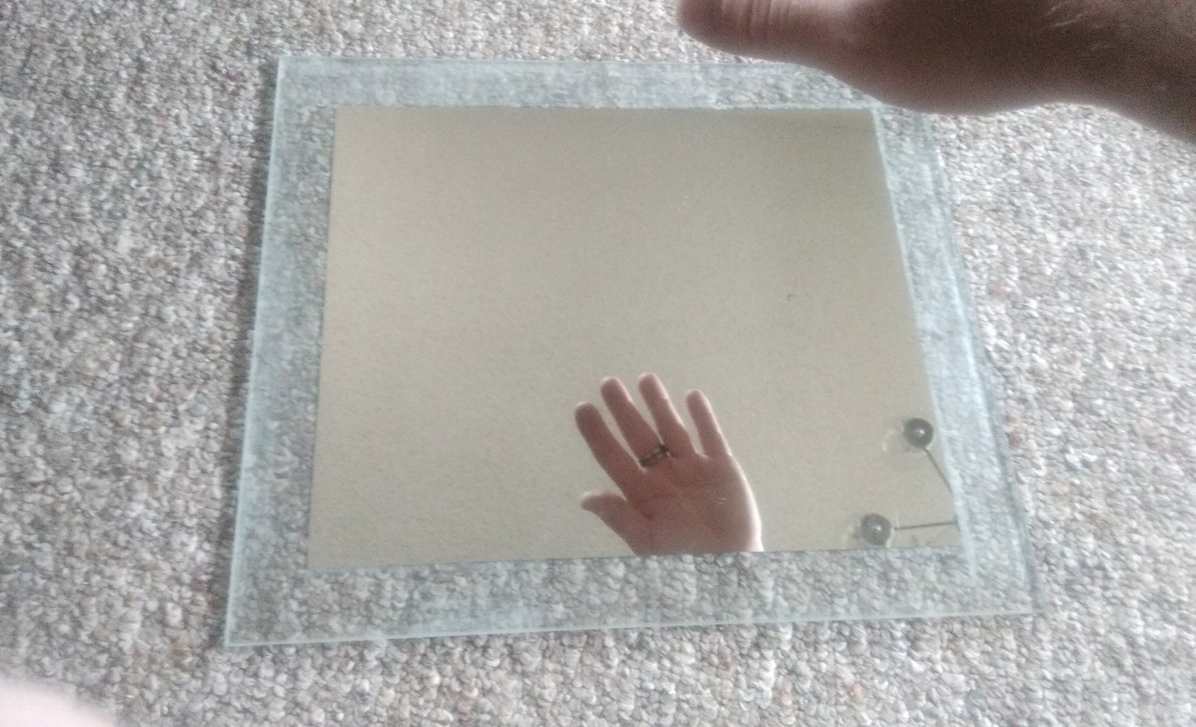 Second Step to Sanding the Mirror