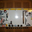 """The ultimate tool organizer """"Metal magnetic pegboard"""" for less than 10$"""
