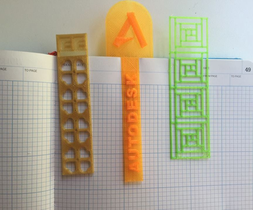 3D Printed Bookmark