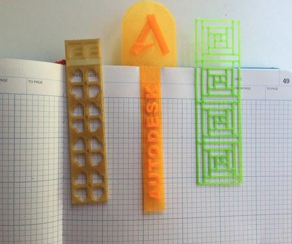 3D Printed Bookmark