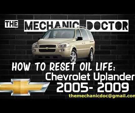 How to Reset Oil Life: Chevrolet Uplander 2005-2009