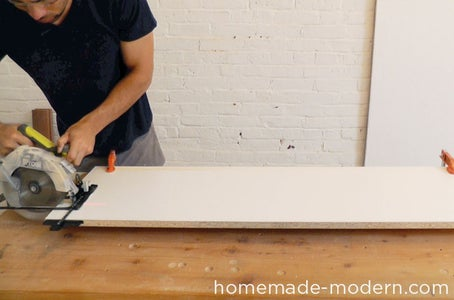 Cut the Melamine Board