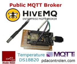 """ESP8266 & Public """"Free"""" MQTT Broker HiveMQ & Node-RED"""