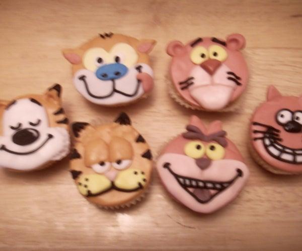 Purrfect... Cartoon Cat Cupcake Tutorial