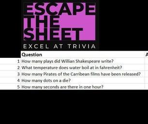 逃脱纸张(Excel Puzzle)