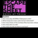 Escape the Sheet (Excel Puzzle)