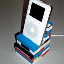 iPod Throne, a lego dock