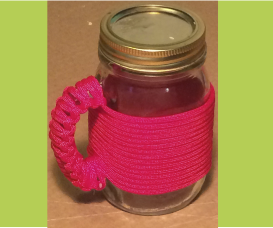 Paracord Wrapped Mason Jar Mug