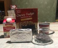 简易巧克力布朗尼芝士蛋糕冰淇淋