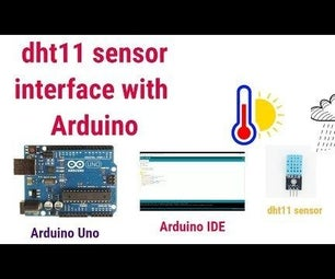 Temperature and Humidity Sensor(dht11) Interface With Arduino
