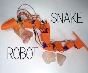3D Printed Snake Robot
