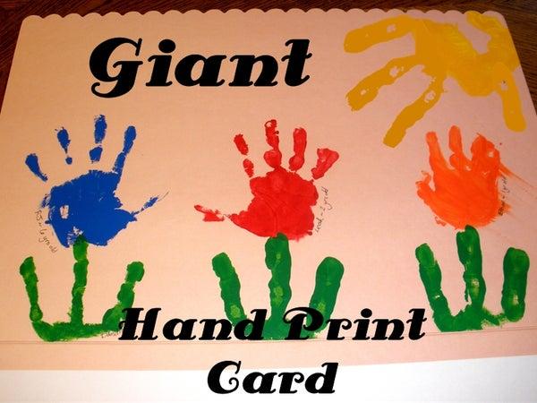 Giant Hand Print Art Card