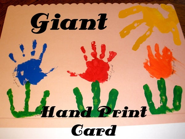 Giant Hand Print Art Card