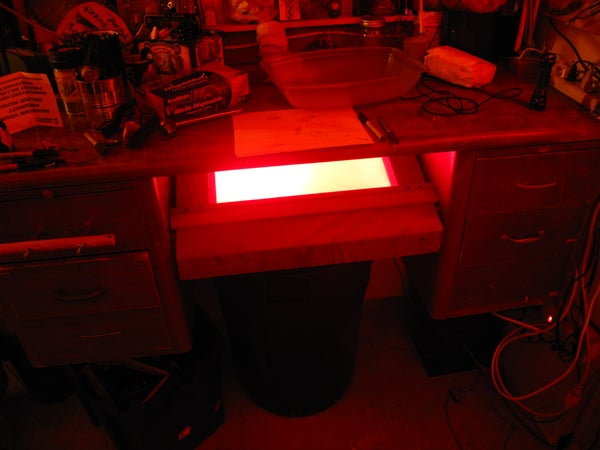 Light Table Drawer in a Standing Desk.