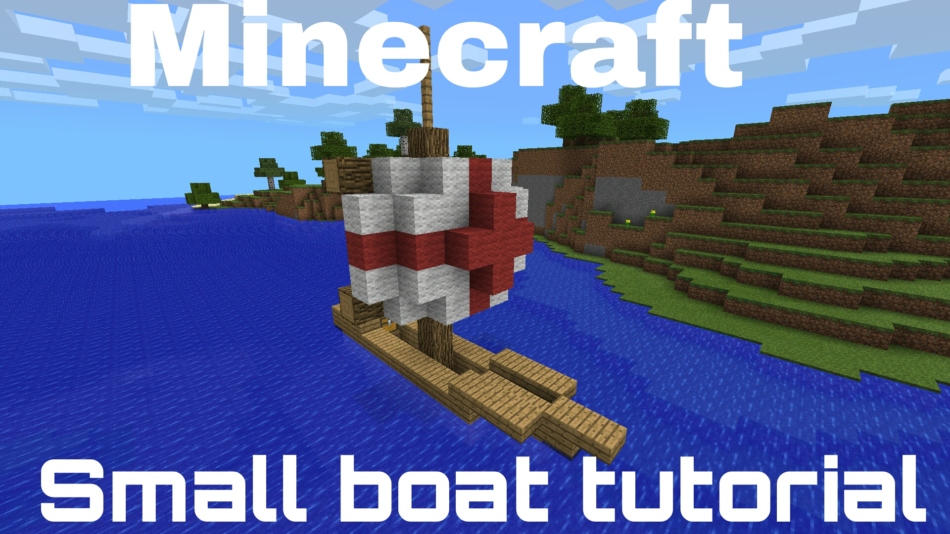Minecraft PE - Small Fishing Boat Tutorial!