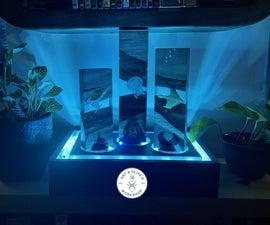 """Star Trek Enterprise's Great Escape"" Epoxy & LED Light Display"