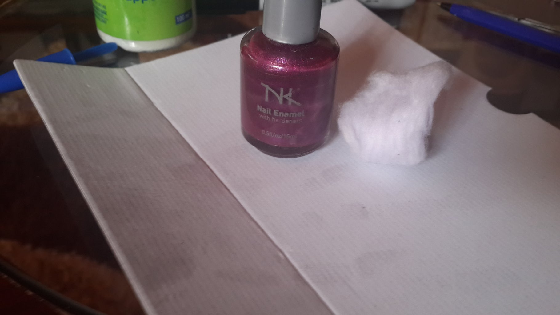 Dab Purple Nail Polish on Parts of Your Nails