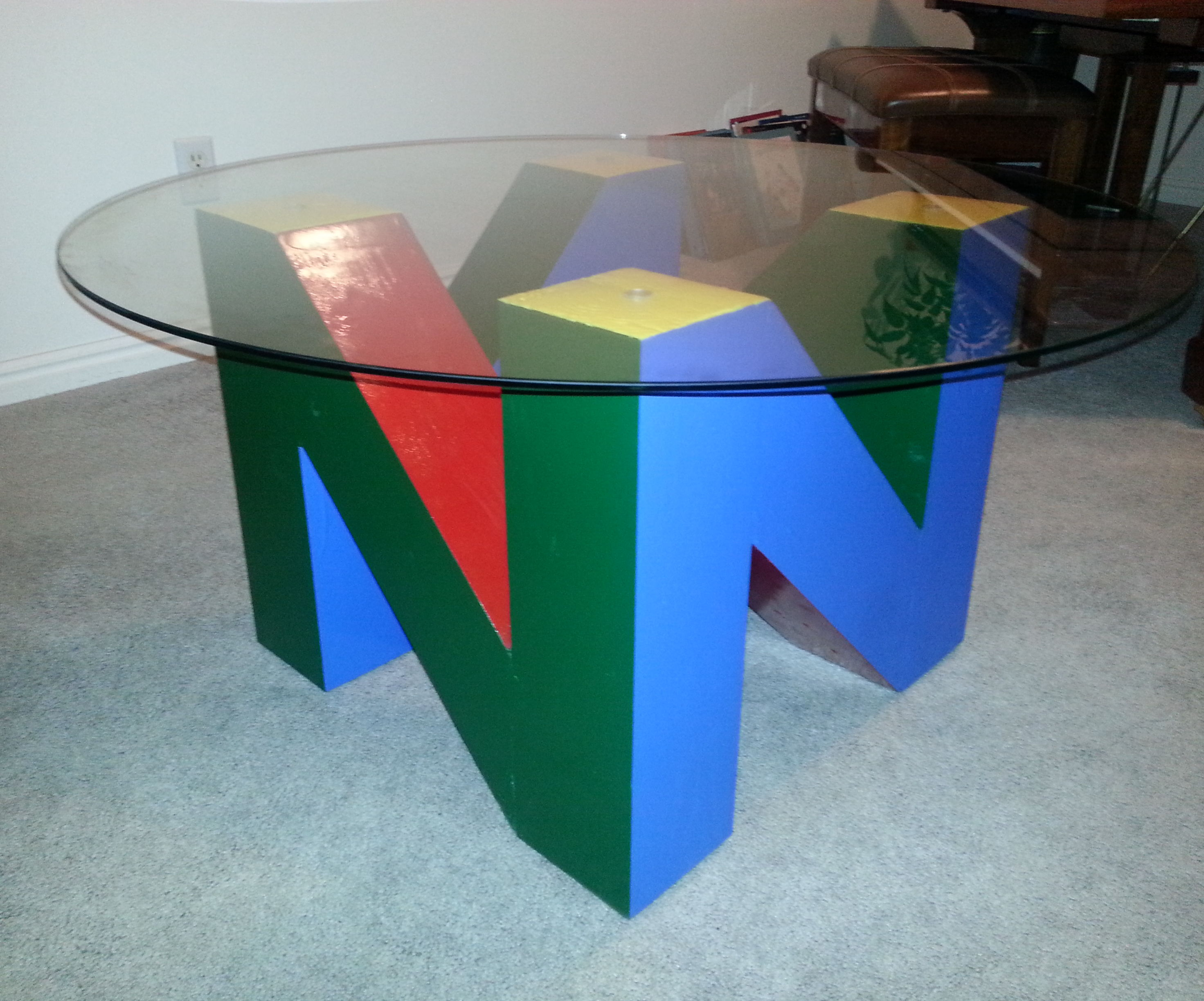 """N"" Table - The N64 Logo End Table"