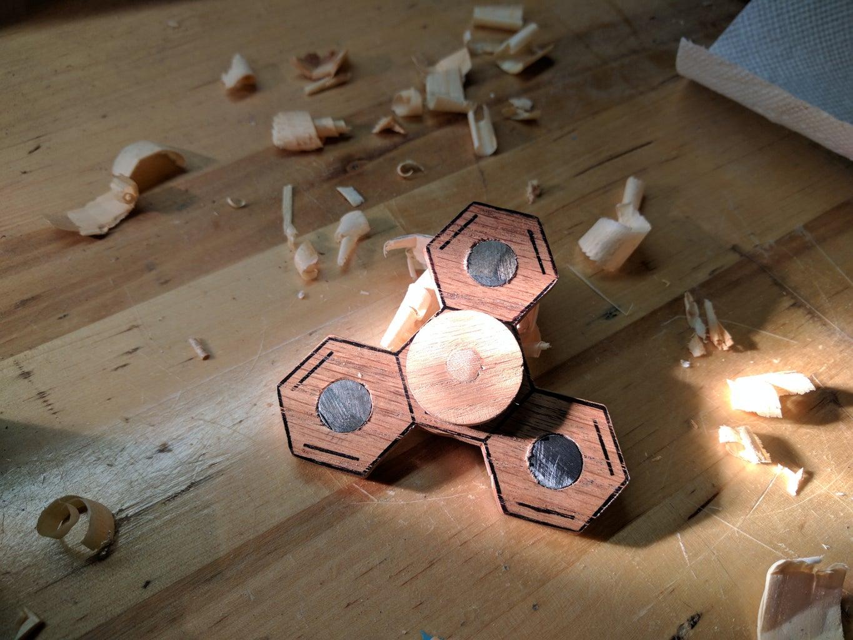 Molecular Wooden Fidget Spinner