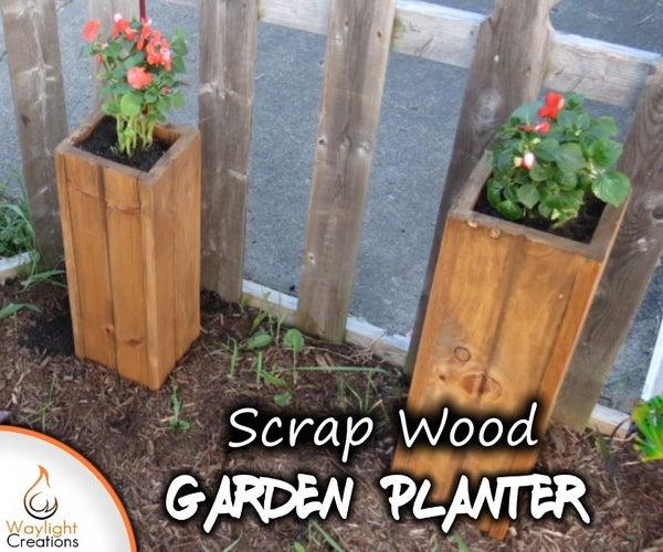 Scrap Wood Garden Planters