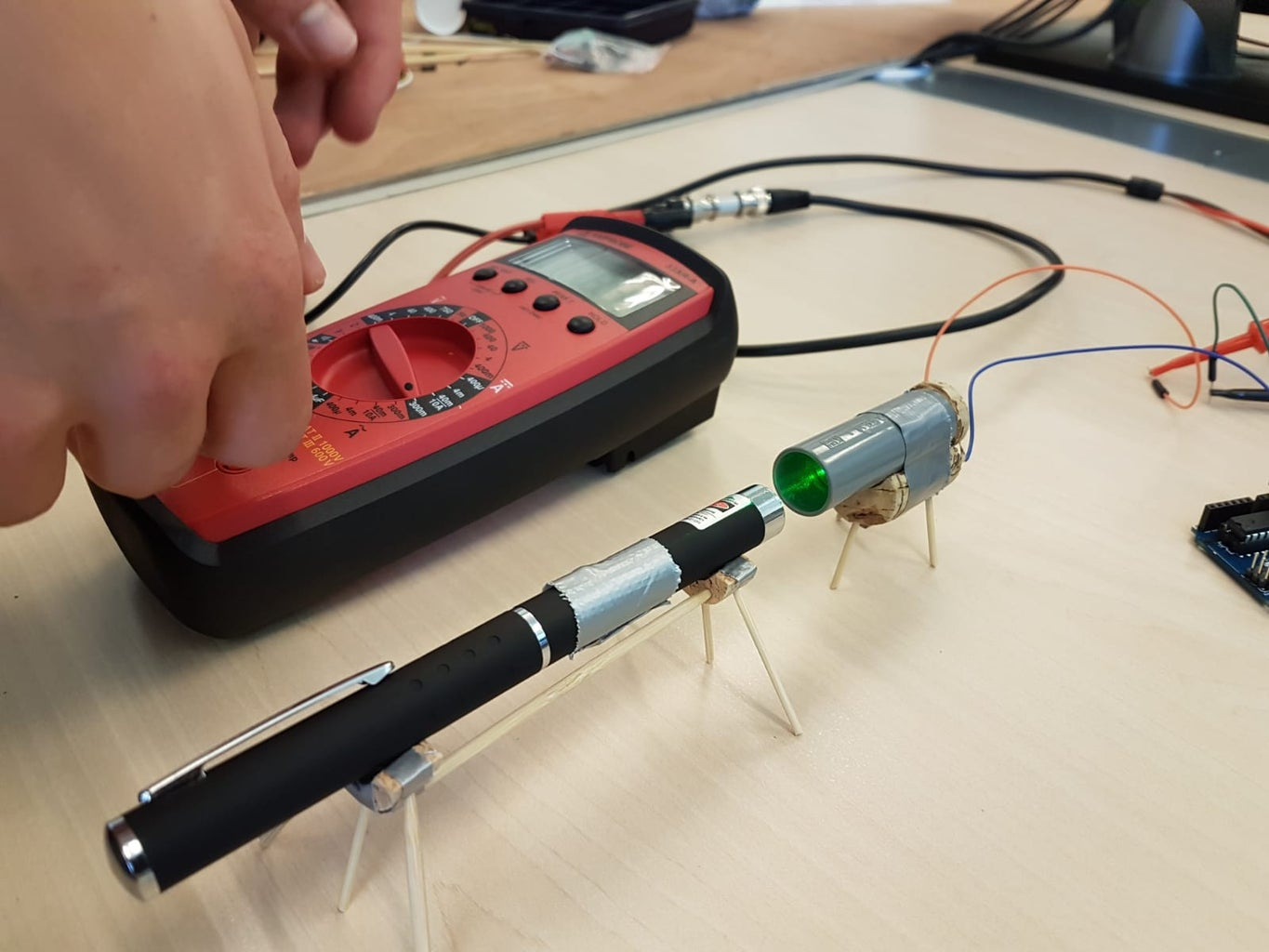 Demonstrating Photo-electric Effect