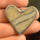 Crushed Marble Heart Pendent