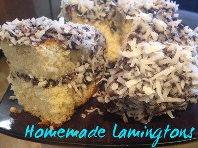 Homemade Lamingtons