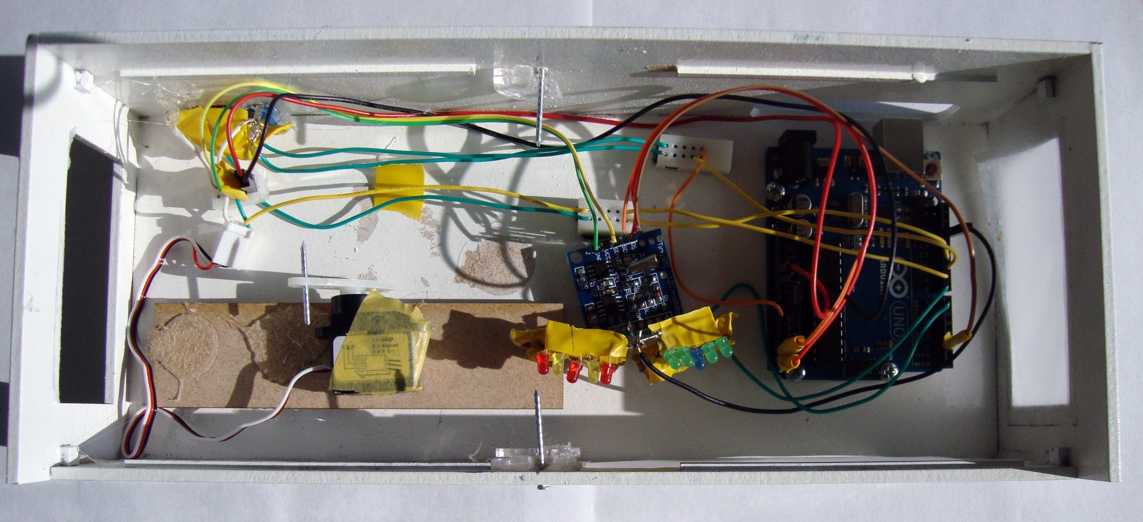 Fitting the Electronics in the Bed Frame