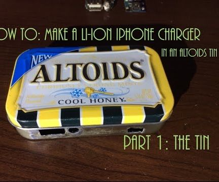 DIY Lithium-ion USB IPhone Charger in an Altoids Tin
