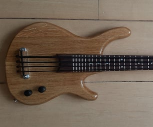 Bass Ukelele From Old Acoustic Guitar Neck