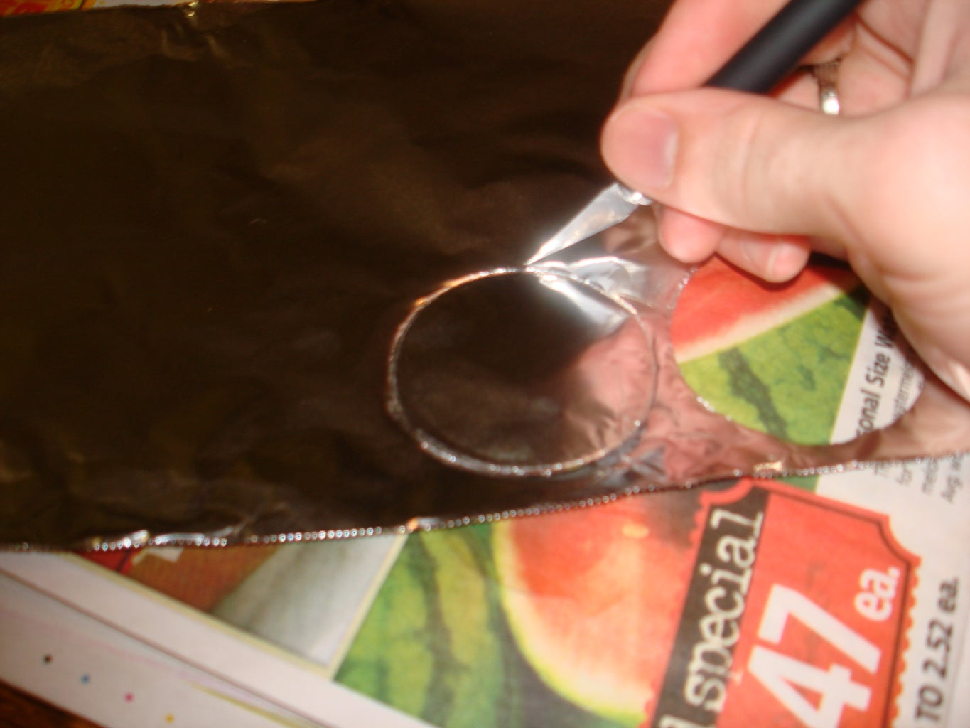 Cut the Wax Paper and Tin Foil