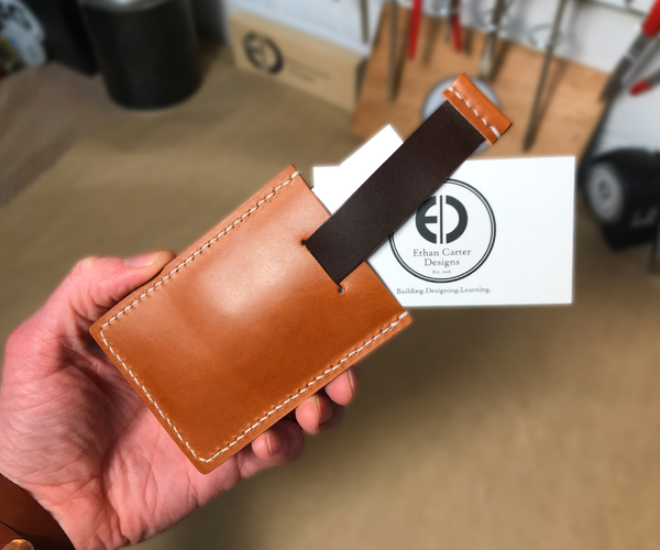 How to Make a Leather Pull Tab Wallet (Free Template)