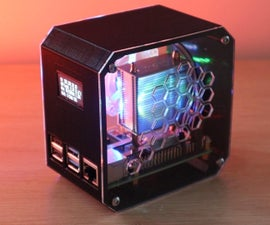 DIY Raspberry Pi Desktop Case With Stats Display