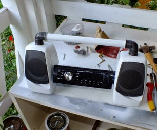 Economic Home Audio System with Low-cost Car Radio
