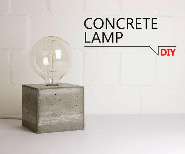 DIY -  Concrete Lamp