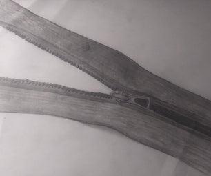 3 Step Zipper Drawing