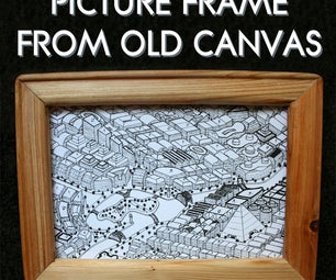 Frame From Old Canvas