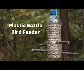 塑料瓶喂鸟饲养者