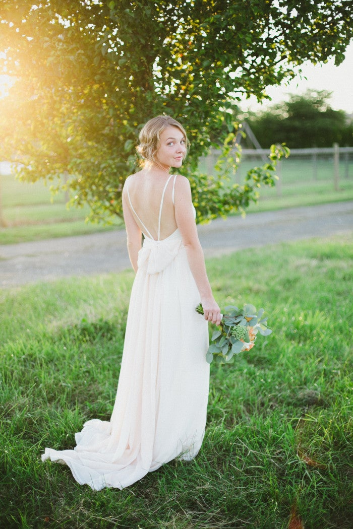 DIY Silk Wedding Dress