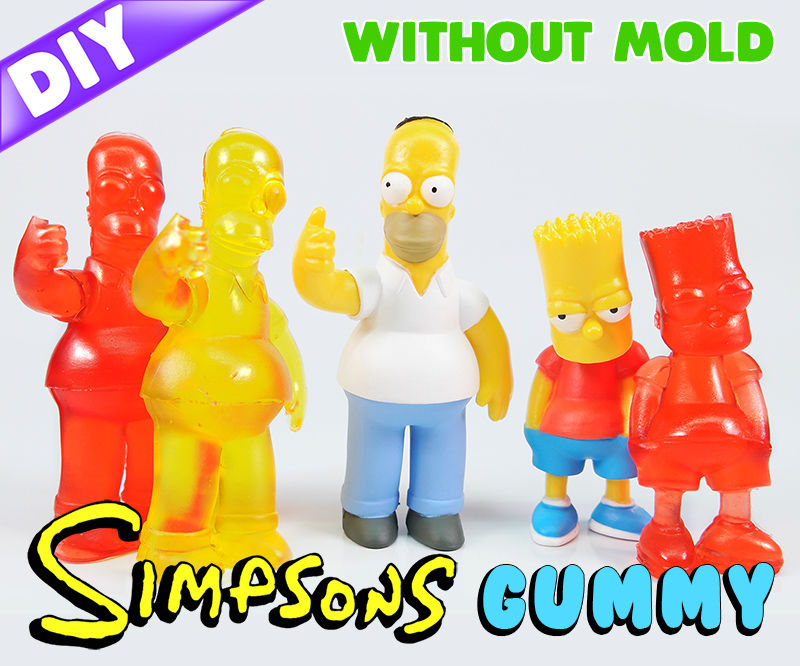 How to Make GUMMY The Simpsons !! Without mold