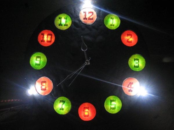 LED Backlit Cardboard WALL CLOCK Cum Night Light