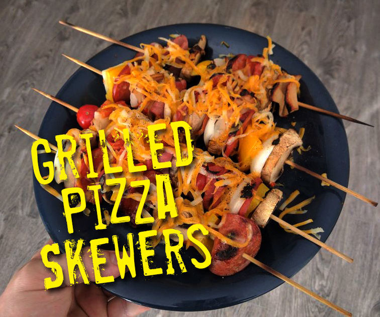Grilled Pizza Skewers