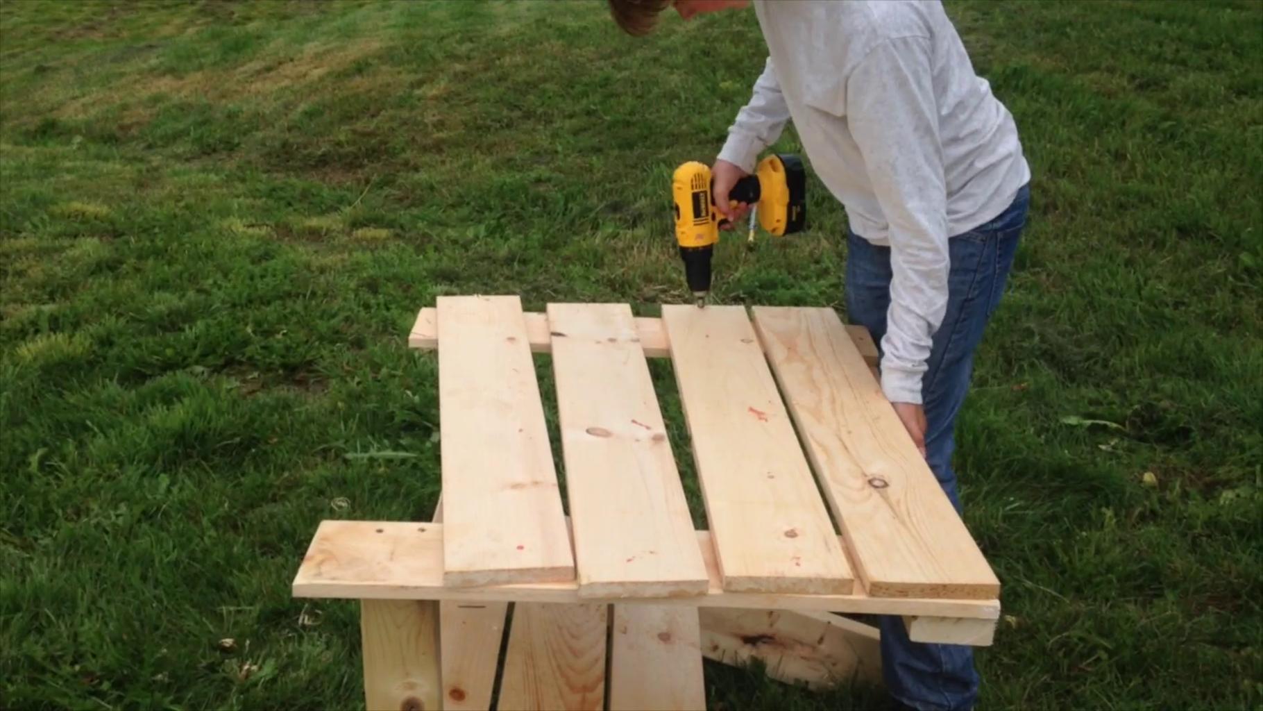 Adding the Back Slats
