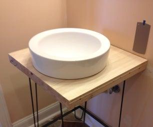 DIY a Custom Bathroom Vanity