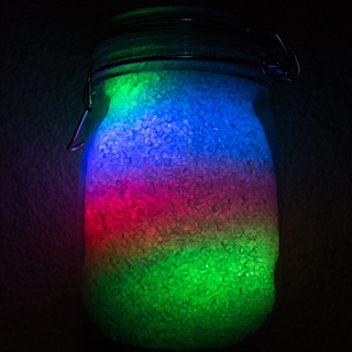 Rainbow Jar - RGB Pixel Strip Controlled Via Arduino