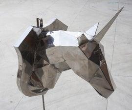 Stainless Steel Unicorn Sculpture