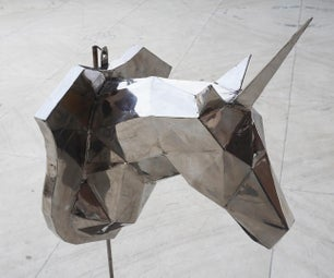 Stainless Steel Unicorn Sculpture