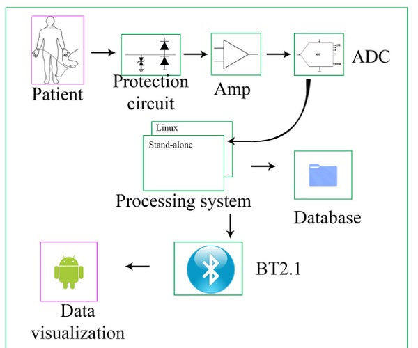 Embedded ECG Data Acquisition System