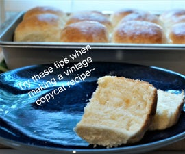 Vintage Copycat School Cafeteria Yeast Rolls