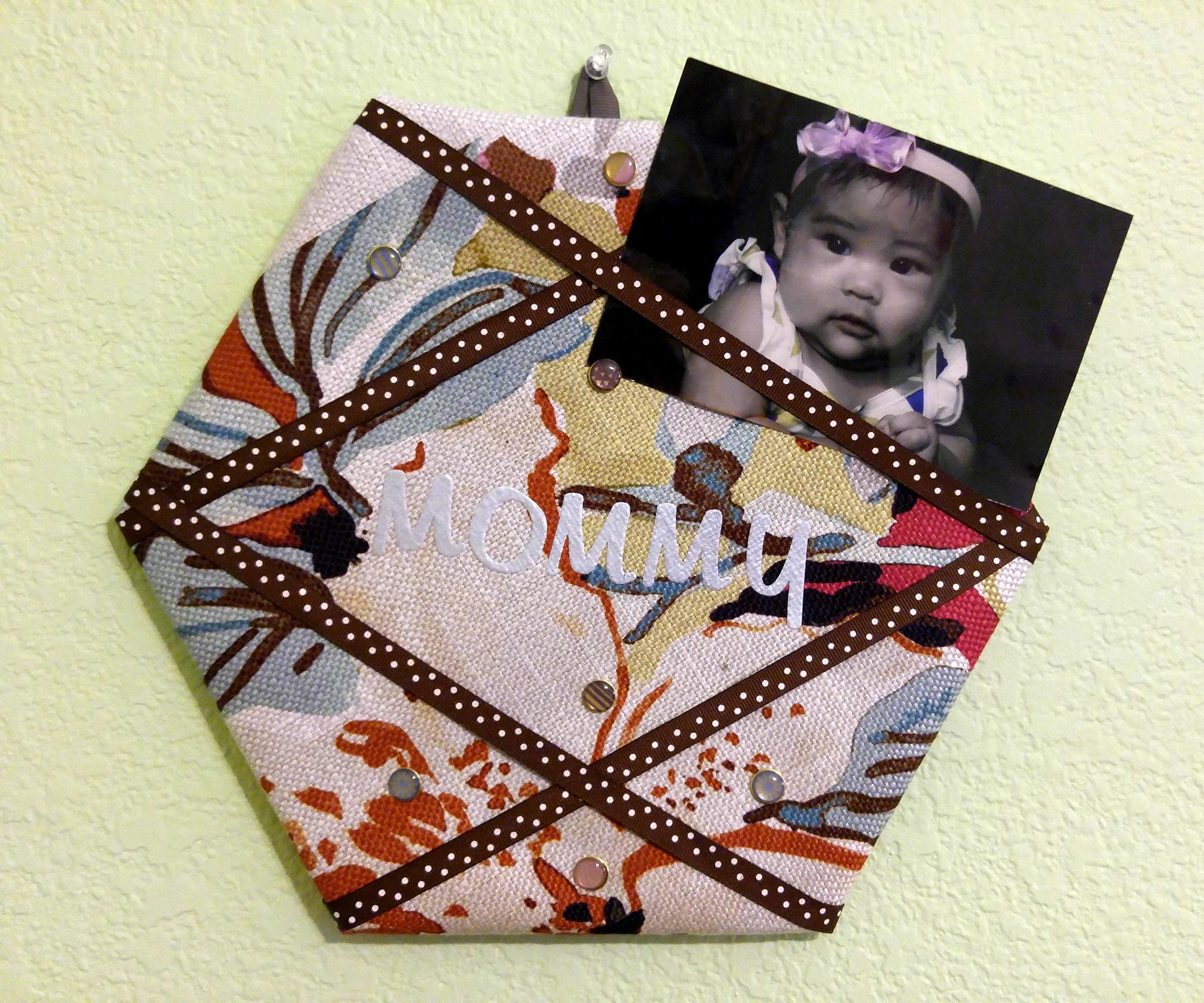 DIY Fabric-Covered Cork Board/Bulletin Board